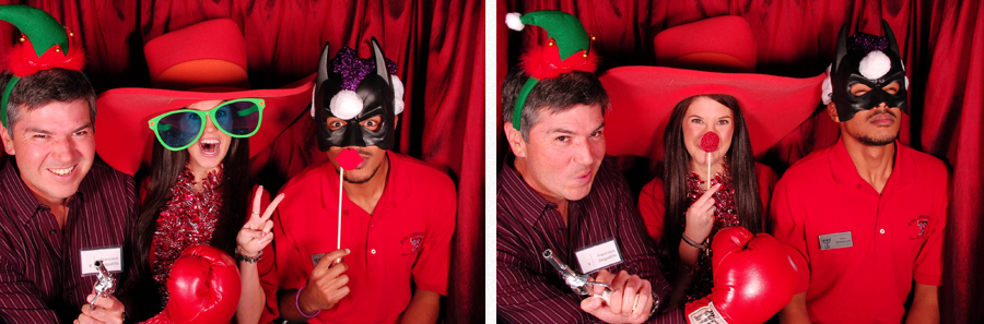 texas tech teacher having fun in photobooth