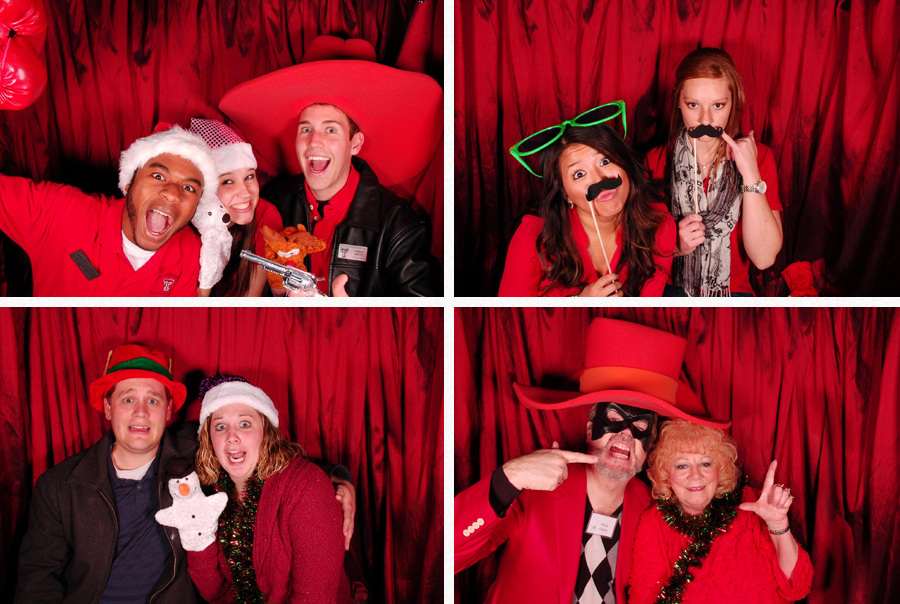 raider red hat in photobooth