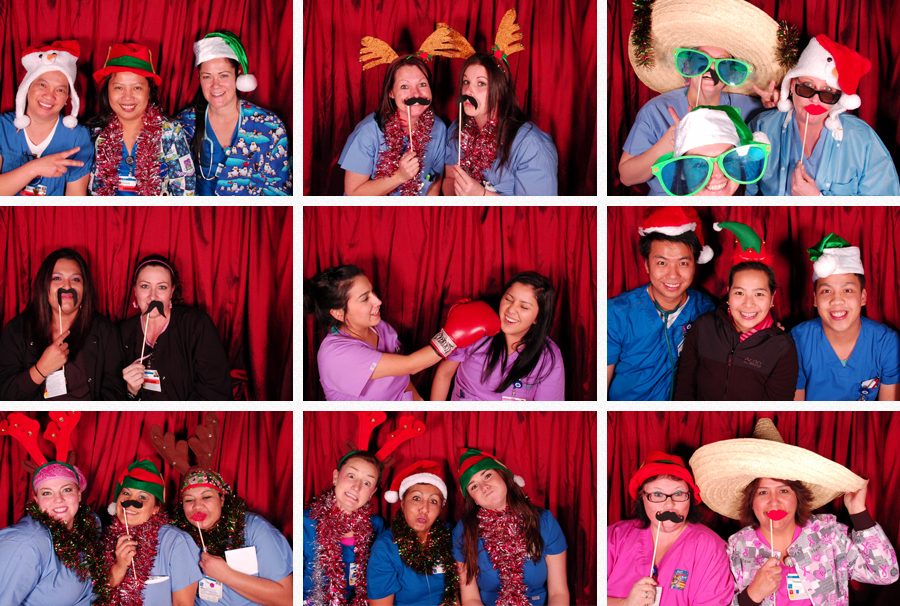umc christmas party photo booth
