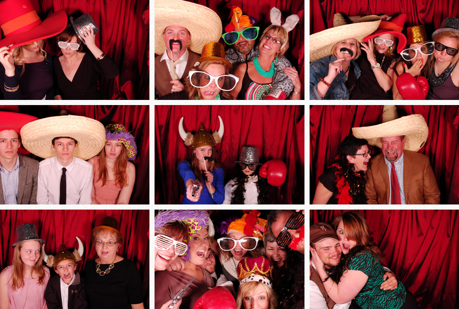 frazier alumni wedding photobooth