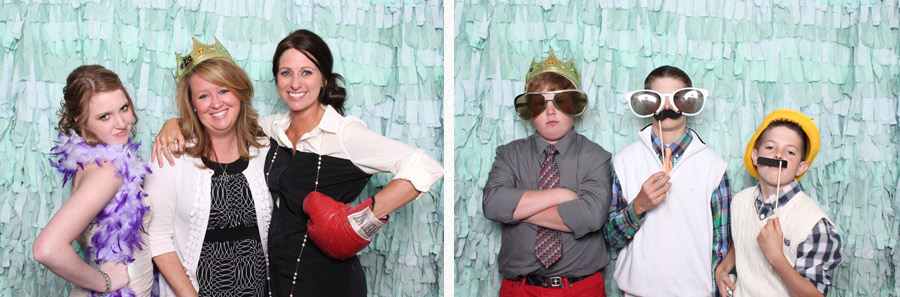 baker building wedding photo booth