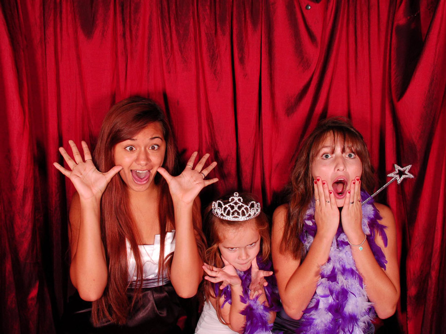 kids fun in photo booth