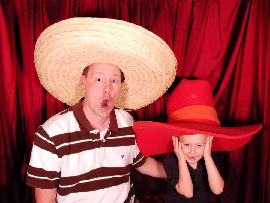 dad and son Photo Booth