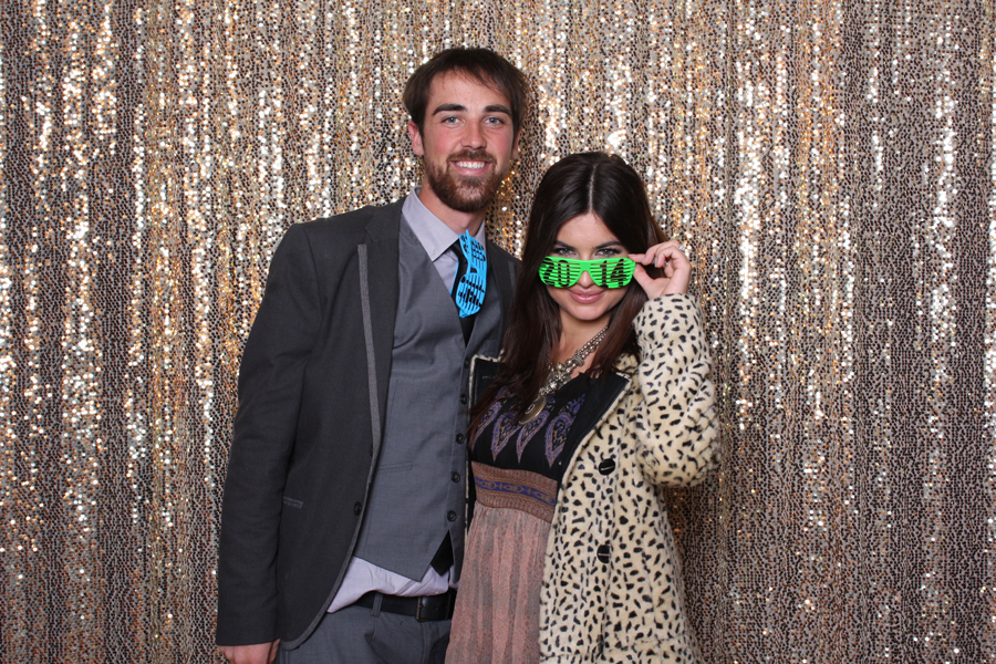 couple in lubbock photo booth