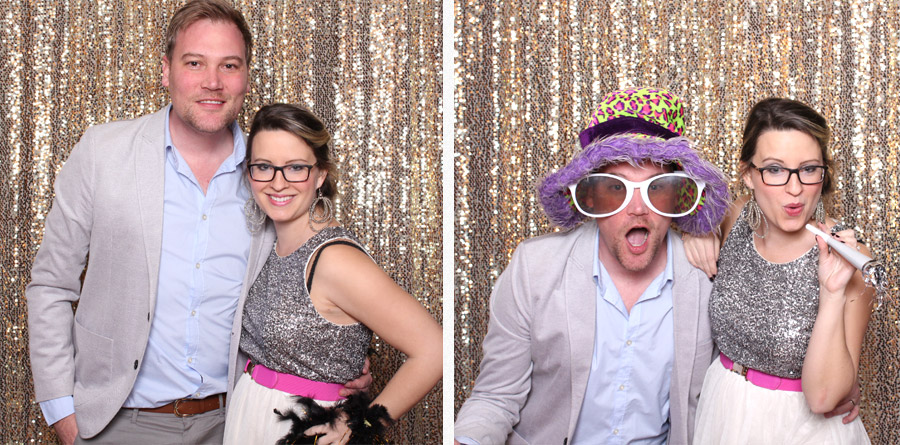cute couple in lubbock photo booth