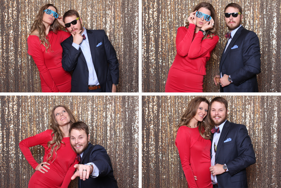 cute couple in lubbock photobooth